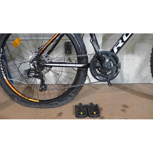 3012 - A black Romet Rambler 6.2, Front Suspension, Shimano equipped,21 speed Mountain Bike, RRP £199.99 + ...