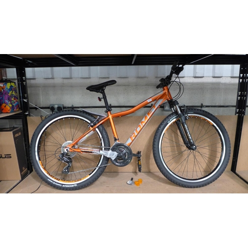 3014 - An orange Romet Rambler R6.1 Mtb V-Brake, Shimano equipped, 21 speed RRP £199.99 + VAT   (194-251) *...