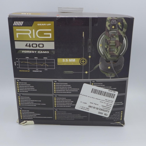 3017 - A Plantronics Rig 400 Camo Gaming Headset (no microphone) (193-87)  * This lot is subject to VAT...