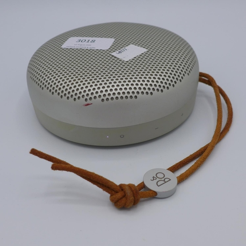 3018 - A Bang & Olufsen Beoplay A1 Wireless Speaker, Rrp £139.99 + Vat  (193-72)  * This lot is subject to ...