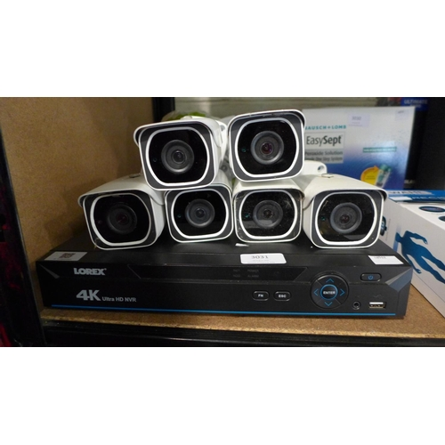 3031 - A Lorex 4K Cctv System (2Tb/ 8Channel), RRP £699.99 + VAT - with 6 cameras, remote and power lead  (...