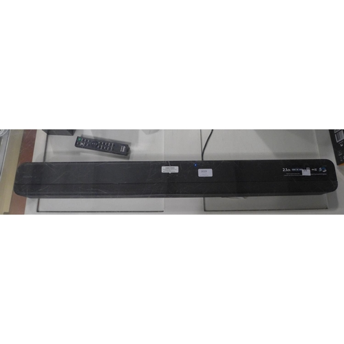 3039 - A Sony 2.1Ch Soundbar  (Model Htx8500.Cek), RRP £239.99 + VAT - with remote and power lead       (19...