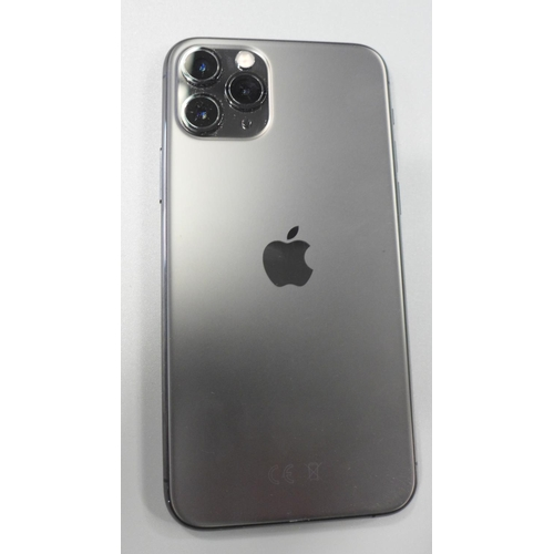 3043 - An Apple iPhone 11 Pro - model:- MWCZ2BIA, space grey, 64GB, with box, headphones and charging lead ...
