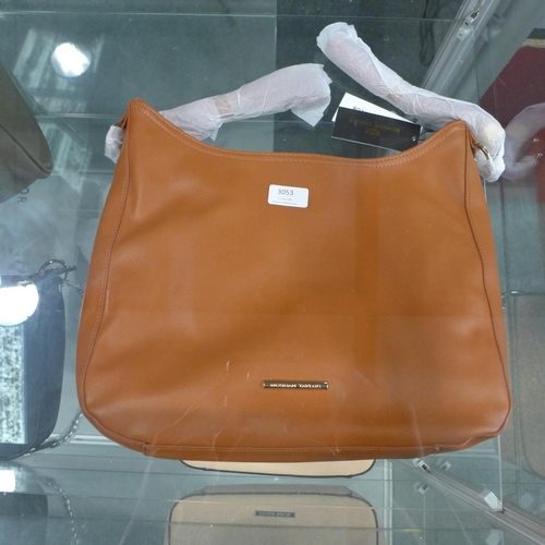 3053 - A Morgan Taylor brown leather handbag (new & unused)...