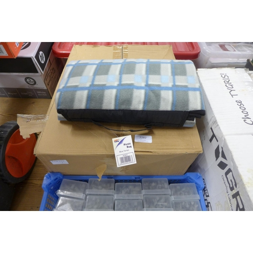 2999 - Box of 5 picnic blankets - unused...
