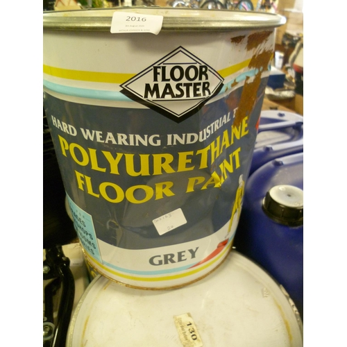 2016 - Floor Master hard wearing industrial floor paint - grey - * this lot is subject to VAT (20ltr)