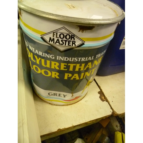 2018 - Floor Master hard wearing industrial floor paint - grey - * this lot is subject to VAT (20ltr)