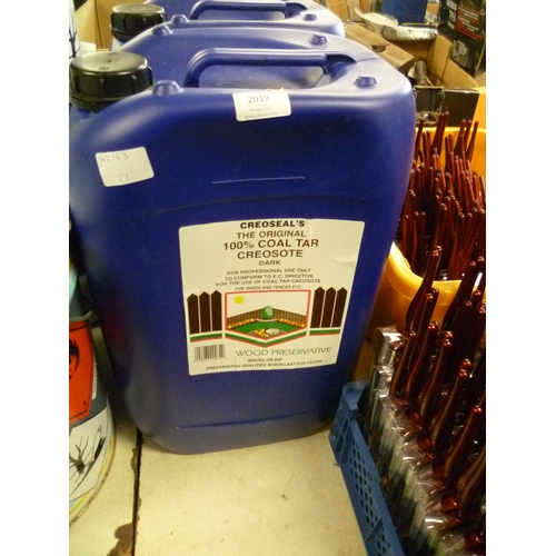 2019 - 20 Litre drum of Creoseal's dark creosote (Trade only) - * this lot is subject to VAT