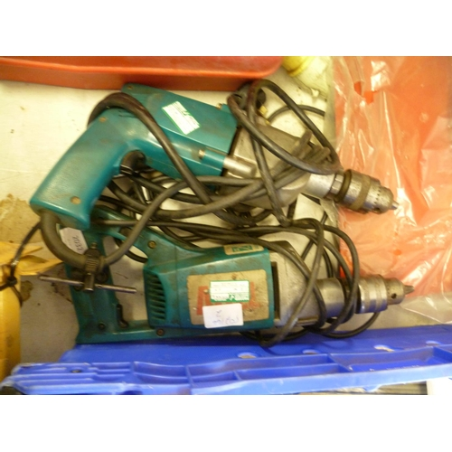 2032 - 2 Makita drills (110v & 240v) - both W