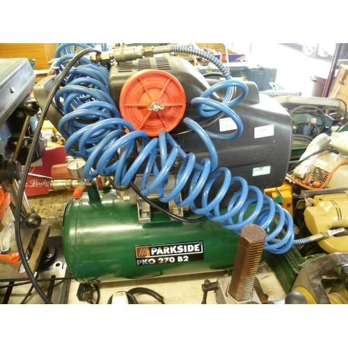 2038 - Parkside PKO 270 B2 25 ltr compressor with air blaster - W