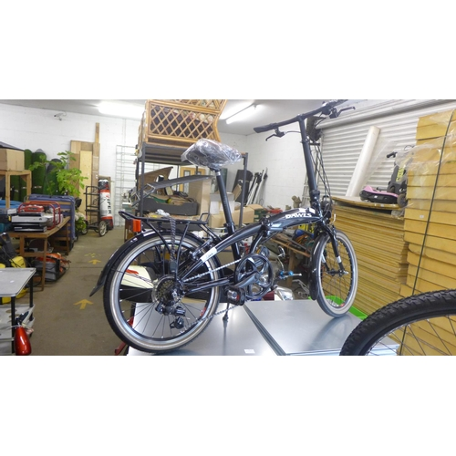 2053c - Dawes Jack aluminium folding bike - Shimano equipped, double wall wheels, pannier rack - as new - RR...