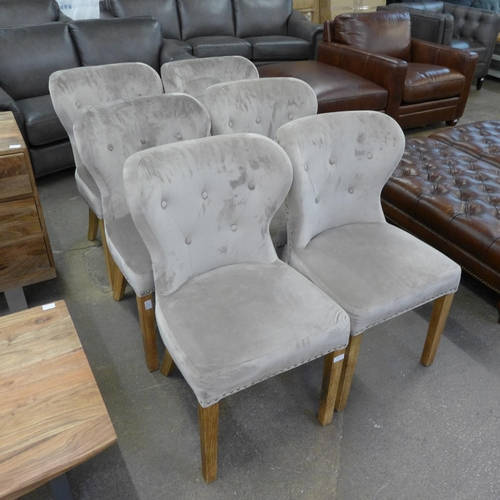 1632 - A set of six Arlo taupe dining chairs...