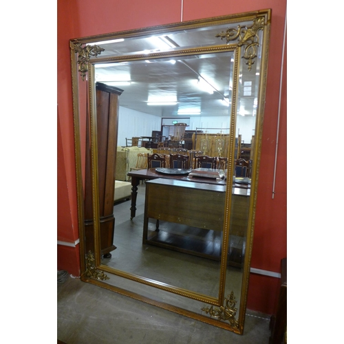 51 - A large French style gilt framed mirror, 194 x 136cms    (M24W202)   #...
