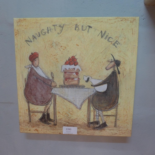 1394 - A Sam Toft print, 'Naughty But Nice', 30cm x 30cm (WDC916667)   #...