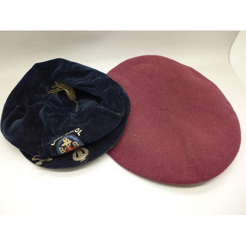 623 - A Liverpool Boys Brigade 1933 cap and a military beret...