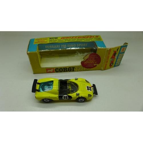 647 - A Corgi Toys, 344, Ferrari, boxed...