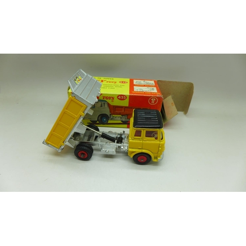 650 - A Dinky Toys, 435, Bedford TK Tipper, boxed...