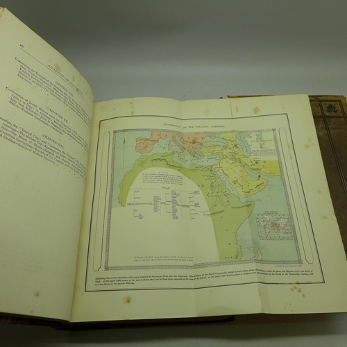 670 - Two volumes, The Land of The Bible, with engravings and maps, and Stanley's Sinai and Palestine, wit...