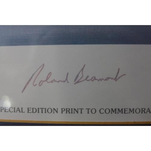 13 - A signed Tim Nolan print, Lightning F6, framed...