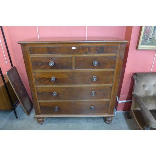 49 - A Victorian Scottish mahogany chest of drawers...