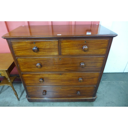 65 - A Victorian mahogany chest of drawers...