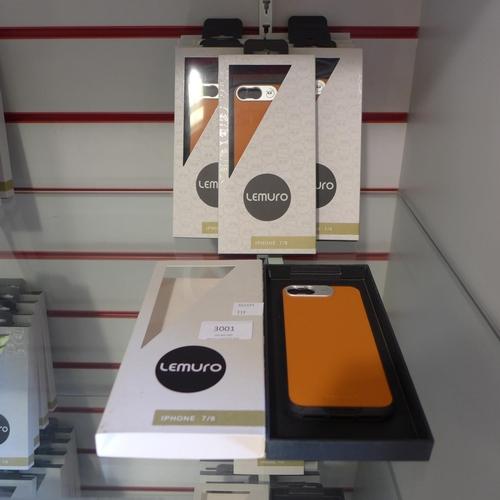 3001 - Ten Lemuro iphone 7/8 mobile phone cases ( light tan )...