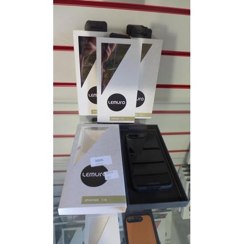 3005 - Ten Lemuro iPhone 7/8 mobile phone cases ( black gloss)...
