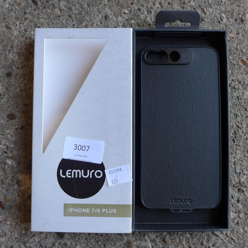 3007 - Ten Lemuro iPhone 7/8plus  mobile phone cases ( black leather )...