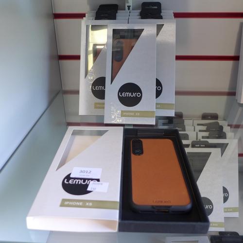 3012 - Ten Lemuro iPhone XS mobile phone cases ( dark tan  )...