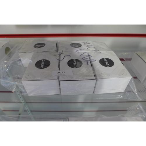 3023 - Five Lemuro Macro 10 x 25mm silver lenses...