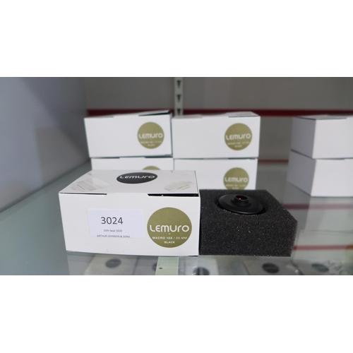 3024 - Five Lemuro Macro 10 x 25mm black lenses...
