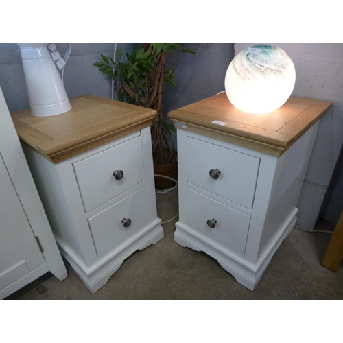 1340 - A pair of Dover oak bedside tables (SW-BSC-OAK) (Ref 10) * this lot is subject to VAT...