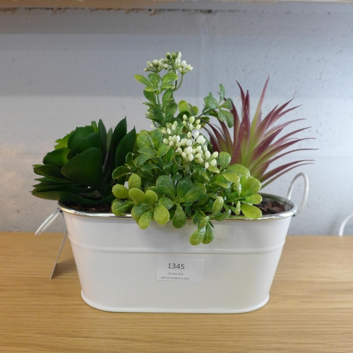 1345 - A mixed alpine display in an enamel container (50242305)   #...