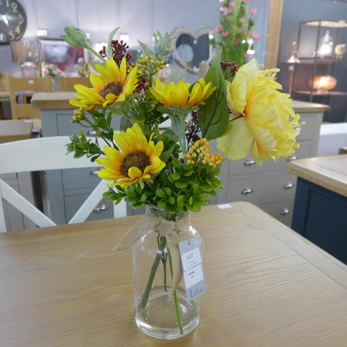 1417 - Sunflowers and peony in a glass vase (50517708)   #...