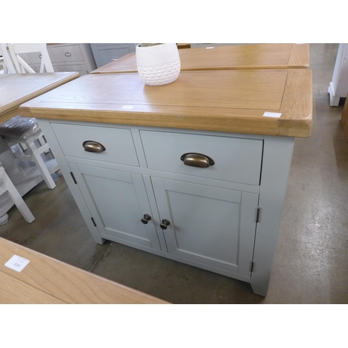 1426 - A Hampshire grey painted oak small 2 door sideboard (WXF P06) (Ref 1)  *This lot is subject to VAT...