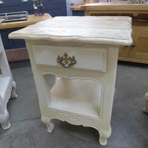 1460 - A bedside table (Ref 22)  *This lot is subject to VAT...