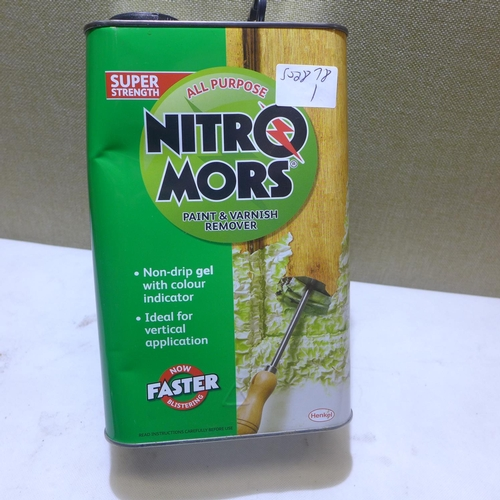 2015 - 4 Ltr tin of Nitro Mors paint and varnish remover...