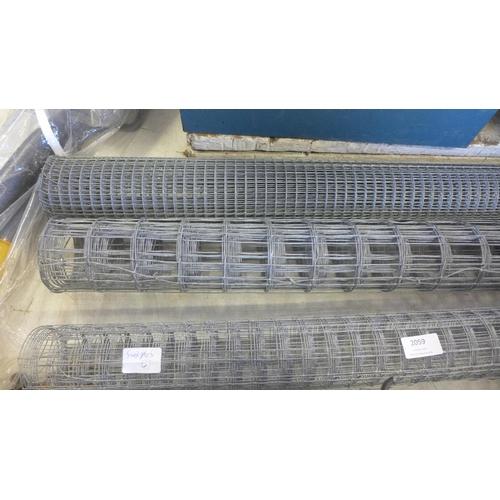2059 - 3 Part rolls of welded mesh - various...