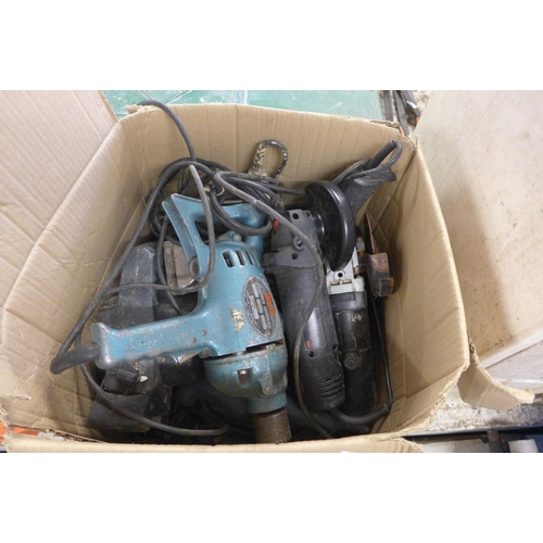 2024 - Box of 240v tools - all sold a/f for spares or repair...