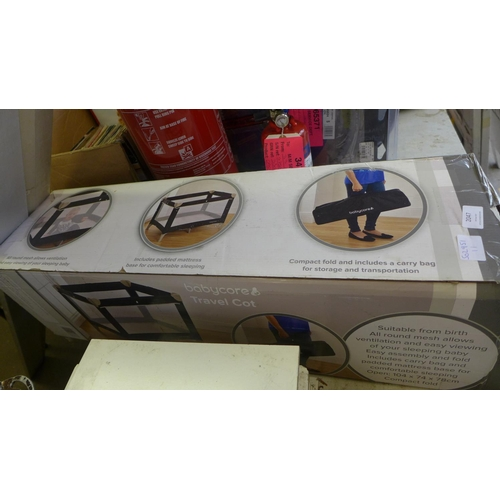2047 - Babycore travel cot - boxed & unused...