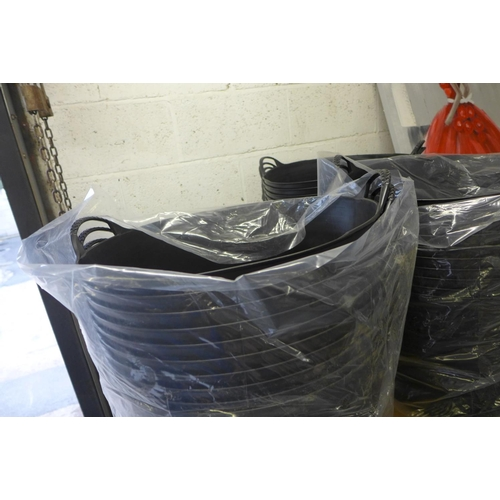 2057 - 5 Black 2 handled Gorilla tubs - unused * This lot is subject to VAT...