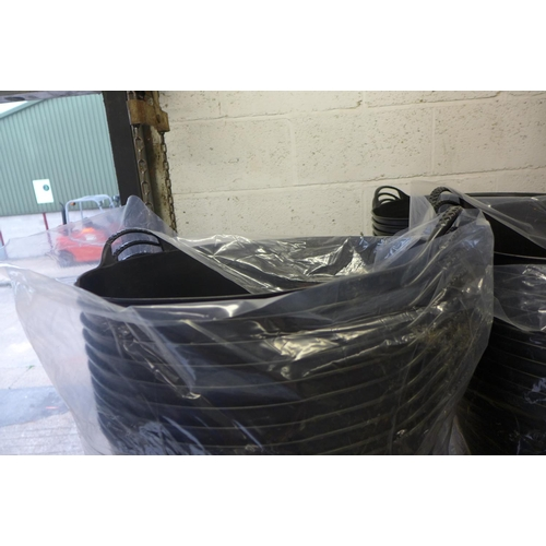 2059 - 5 Black 2 handled Gorilla tubs - unused * This lot is subject to VAT...
