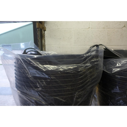 2061 - 5 Black 2 handled Gorilla tubs - unused * This lot is subject to VAT...