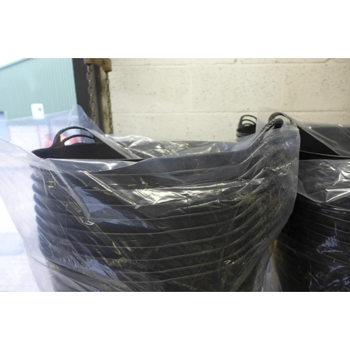 2062 - 5 Black 2 handled Gorilla tubs - unused * This lot is subject to VAT...