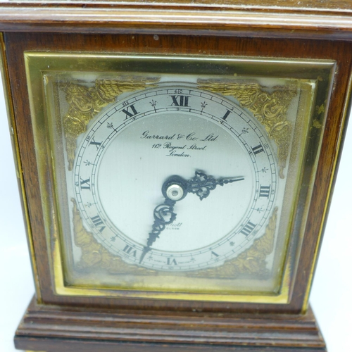 601 - A Garrard & Co. mantel clock with Elliott movement...