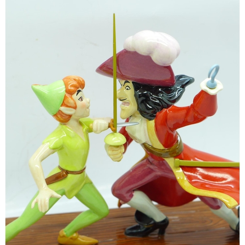 617 - A Royal Doulton limited edition Peter Pan figure, 0569/3000, The Duel, with box and certificate...
