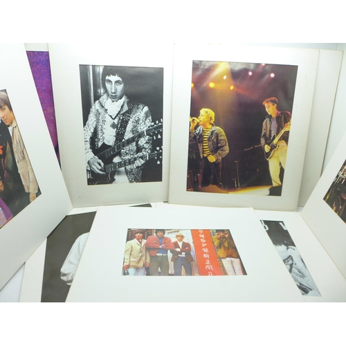 622 - Eleven mounted pictures of The Who...