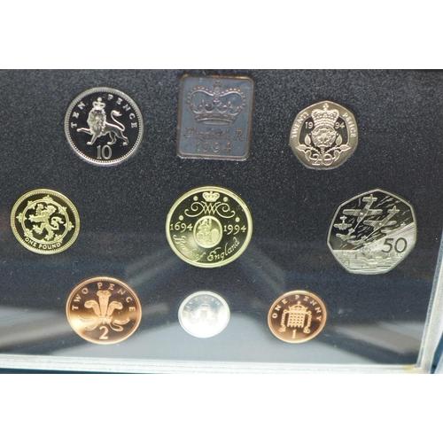 632 - Five Royal Mint UK Proof coin sets, 1980's - 1990's