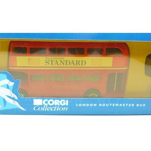 646 - A Corgi Collection, 60003, London Gift Set, Routemaster bus, mounted Policeman and Taxi, boxed...
