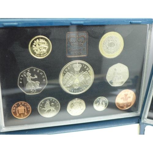 648 - Five Royal Mint UK Proof coin sets, 1990's...